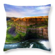 S Landscape Throw Pillow