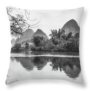 Yulong River Scenery Throw Pillow