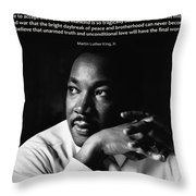39- Martin Luther King Jr. Throw Pillow by Joseph Keane