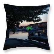 Racine Coastal Seascape - Michigan Lake In Wisconsin By Adam Asar Throw Pillow