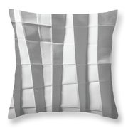 White Folded Paper Throw Pillow
