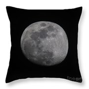 Near Side Of The Moon Throw Pillow