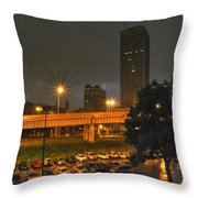 3am Lightning Storm Throw Pillow