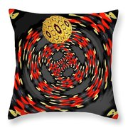 3d Concentric Planet  Throw Pillow