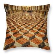 3d Floor Art Throw Pillow