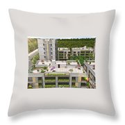 3d Flythrough Studio In Usa Throw Pillow
