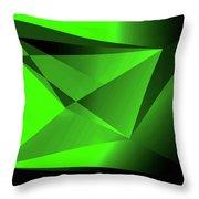 3d-greenpyramids Throw Pillow