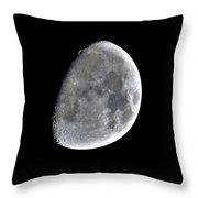 3d Moon Throw Pillow
