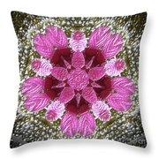 3d Pink Purple Mandala Painting Throw Pillow
