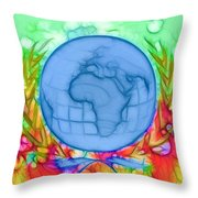 3d Render Of Planet Earth 17 Throw Pillow