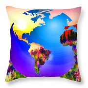 3d Render Of Planet Earth 18 Throw Pillow