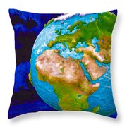 3d Render Of Planet Earth 6 Throw Pillow