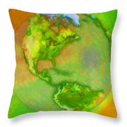 3d Render Of Planet Earth Throw Pillow