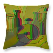 3d Stereo Cubism - Use Red-cyan 3d Glasses Throw Pillow