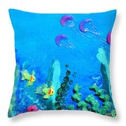 3d Under The Sea Throw Pillow by Ruth Collis