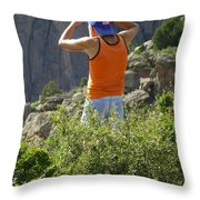 3d10302-dc Ed Cooper On The Hunt Throw Pillow
