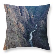 3d10307 Narrows View On North Rim  Throw Pillow
