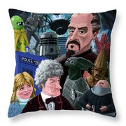 3rd Dr Who And Friends Throw Pillow