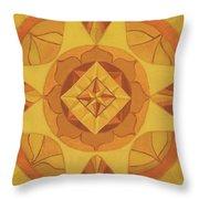 3rd Mandala - Solar Plexus Chakra Throw Pillow