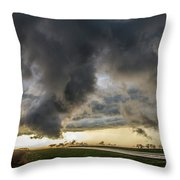 3rd Storm Chase Of 2018 051 Throw Pillow
