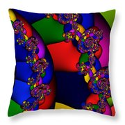 3x1 Abstract 909 Throw Pillow