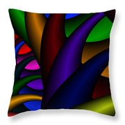 3x1 Abstract 915 Throw Pillow