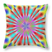 3x1 Abstract 918 Throw Pillow