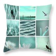 3x3 Aqua Blue Throw Pillow