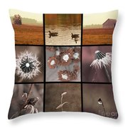 3x3 Brown Throw Pillow