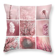 3x3 Pink Throw Pillow