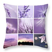 3x3 Purple Throw Pillow