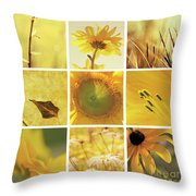 3x3 Yellow Throw Pillow