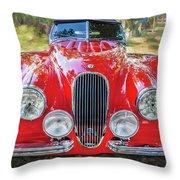 1954 Jaguar Xk 120 Se Ots  Throw Pillow