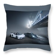 A Foggy Evening In London Throw Pillow