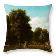 A View Of The The Haarlemmerhout Throw Pillow