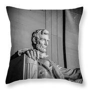 Abraham Lincoln Memorial In Washington Dc Usa Throw Pillow