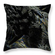Abstract Fractal Landscape Throw Pillow