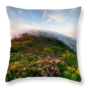 Acrylic Landscape Throw Pillow