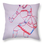 Adowa Dance Ghana Throw Pillow