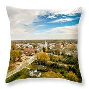 Aerial View Over White Rose City York Soth Carolina Throw Pillow
