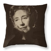 Agatha Christie 1 Throw Pillow