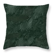 Alien Fluid Metal Throw Pillow