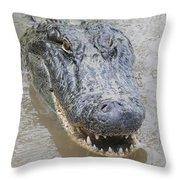 Alligator Throw Pillow