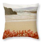Aloha Lei Maui Hawaii Throw Pillow