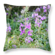 Alpine Wildflower Throw Pillow