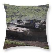 An Israel Defense Force Merkava Mark Iv Throw Pillow