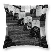 Arlington National Cemetery At Christmas Throw Pillow
