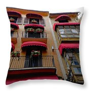 Artistic Architecture In Palma Majorca, Spain Throw Pillow