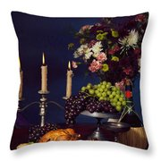 Artistic Food Still Life Throw Pillow