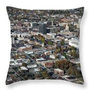 Asheville Aerial Photo Throw Pillow